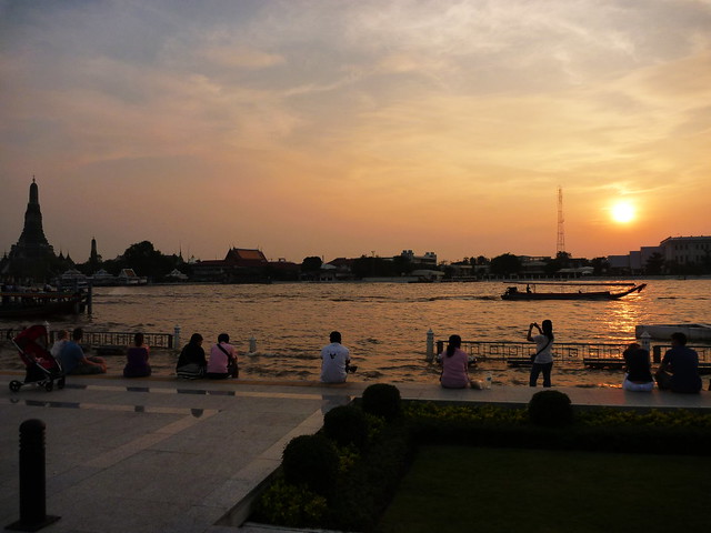 Chao Phraya river Bangkok sunset
