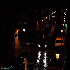 Light at night (Merillou) Tags: street light color colour luz lamp night noche calle streetlight lampost squareformat farolas lightatnight nikond60 formatocuadrado merillou