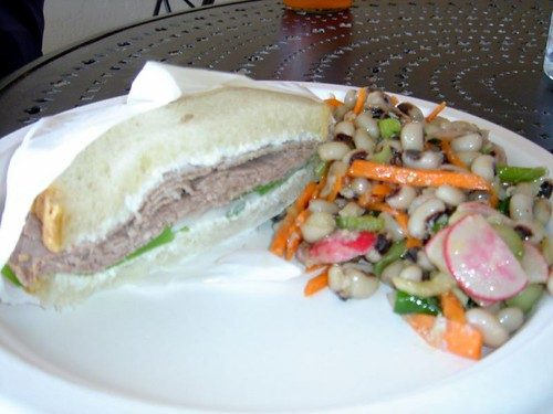 Roast Beef Sandwich and Creole Artichoke Salad