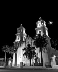 St. Augustine Cathedral (CoryValdezPhotography) Tags: blackandwhite moon church night cathedral religion interestingness45 i500 explore25june07