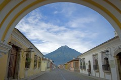 Through the Archway (DaveWilsonPhotography) Tags: volcano agua arch guatemala explore antigua santacatalina nikonstunninggallery diamondclassphotographer flickrdiamond