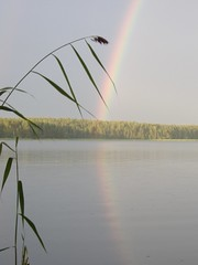 Evening Glory (Johnnyporvoo) Tags: reflection water tag3 taggedout suomi finland rainbow tag2 tag1