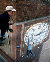 PURE GENIUS!!!!!! (ro_nya) Tags: streetart london wow chalk 3d big ben chalkdrawing haroldlloyd mindblowing julianbeever streetsoflondon trompedoeil puregenius ronya safetylast pavementpicasso ronyagalka ronyagalkacom
