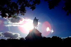 Copper Horse (James Deane) Tags: park sky horse cloud sun silhouette evening blog great cycle copper windsor