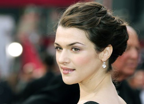 rachel weisz hairstyles. rachel weisz french braid