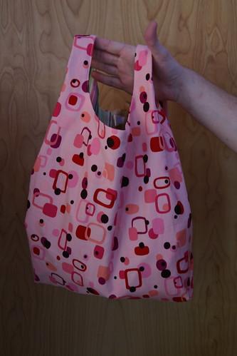 The pink retro bag