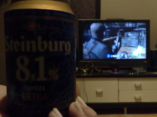 cerveza 8.1 + resident evil