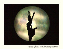Moon Worship (Araleya) Tags: show china travel moon art fz20 dance interestingness asia poetry chinese performance dream silhouettes poetic panasonic explore tradition yunnan cultures artisitic artoflife araleya interestingness402 i500 25faves