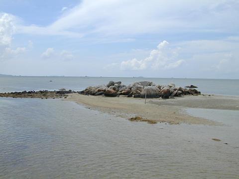 Rocks Visible At Low Tide