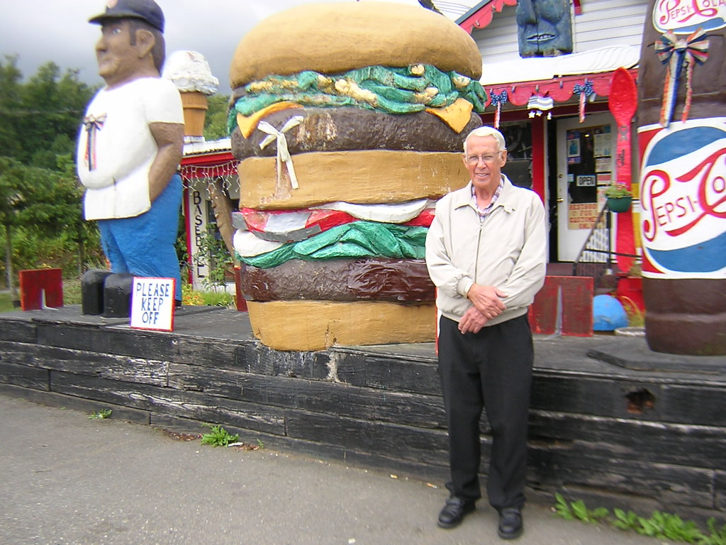 Dad and the Big Burger!