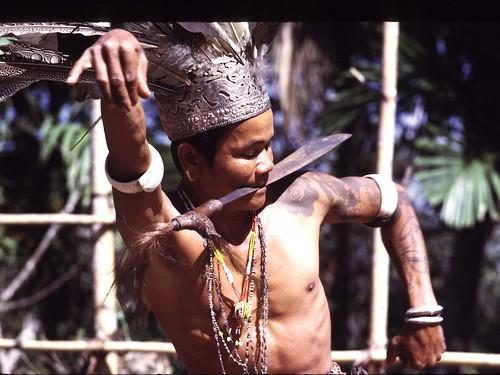 Dayak dancer in Sarawak