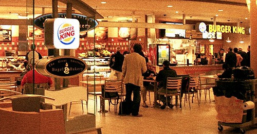 Burger king in airport