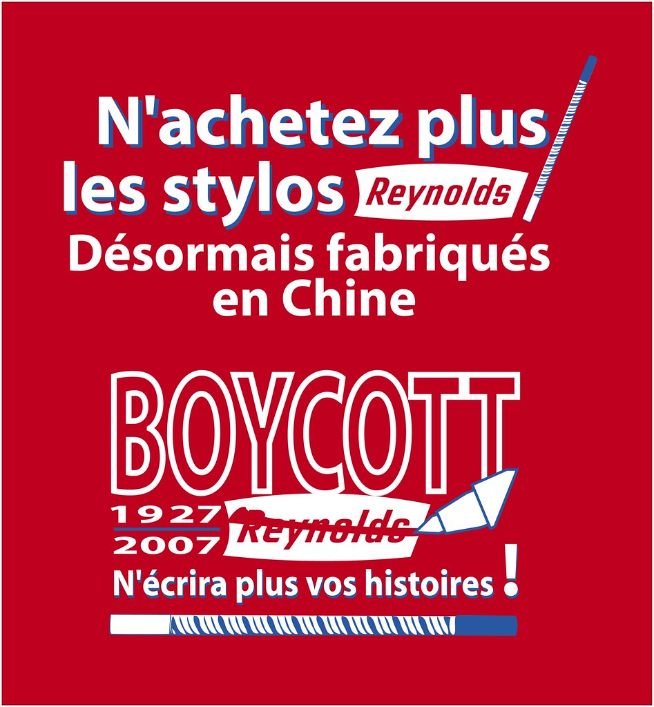 boycott Reynolds made in China