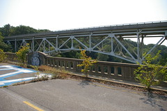 Old and new bridge for Route 40, over the Monocacy River, Frederick