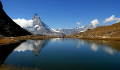 double peak (adlin) Tags: lake mountains alps reflection water geotagged schweiz switzerland berge gornergrat zermatt matterhorn riffelsee lovelovelove alp wallis naturesfinest hochalpin anawesomeshot holidaysvacanzeurlaub travelerphotos naturefinest swisspeeks3
