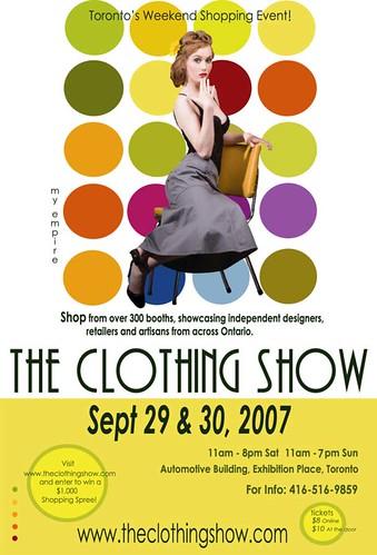 clothing show evite