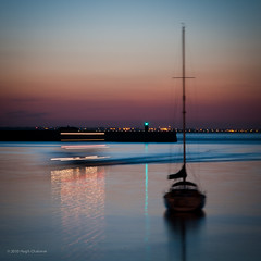 The Mary Celeste (Hugh_C) Tags: longexposure ireland sea sky dublin water reflections lights boat eastpier summersolstice dunlaoghaire maryceleste dilojun10
