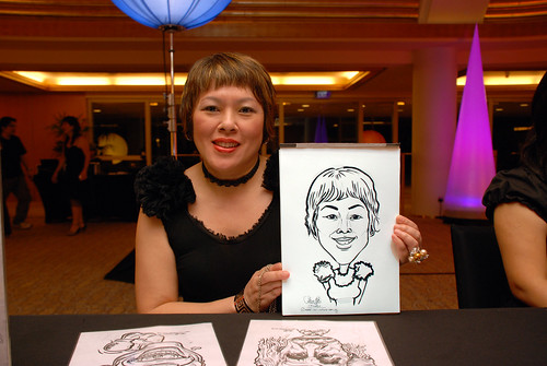 Caricature live sketching for Great Eastern D&D - 16