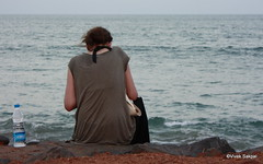 I, Me. Myself and Solitude (vivek sakpal) Tags: world sea india art love beach nature water colors fruits wonderful bay seaside perfect waves natural time blossom vibrant scenic carving revolution destination faceless forever emotional care breeze incredible seashore bengal thirsty bonding pondicherry vibrancy