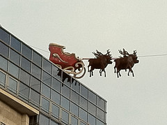 Weihnachtsmann am Dr.-Ruer-Platz in Bochum