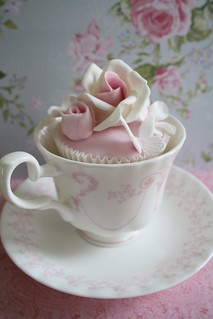 Cupcake teacup by Cotton and Crumbs
