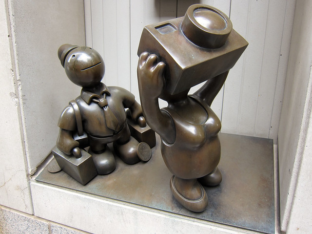 Tourist Sculpture by Tom Otterness