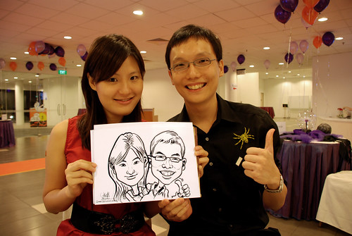 Caricature live sketching for NTU Alumni Club - 8