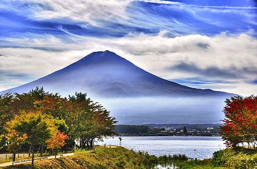 Mount Fuji and Kawaguchi lake