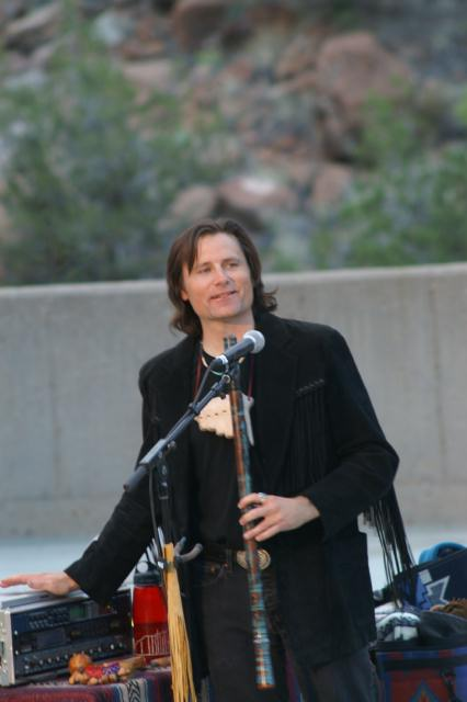 With an Anasazi flute
