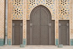 Gate of Hassan II mosque, Casablanca (Emmie76) Tags: architecture muslim mosque arabic morocco casablanca hassan hassanii