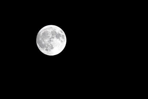 full moon over the slurbs