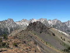 Stuart Range & Volcanic Neck, as seen from near Bean Peak, 7.29.07.