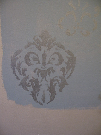 stencil on the wall