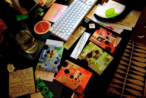 my desk in between cleaning