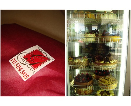 Gerbino's packaging & cakes cabinet