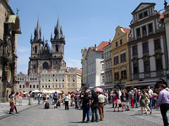 Praha (Lucie Maru) Tags: city vacation people history public architecture buildings square town europe republic czech prague praha tours mesto orloj