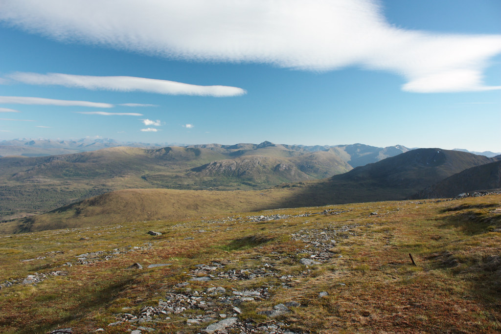 Southwest towards the Glen Shiel hills