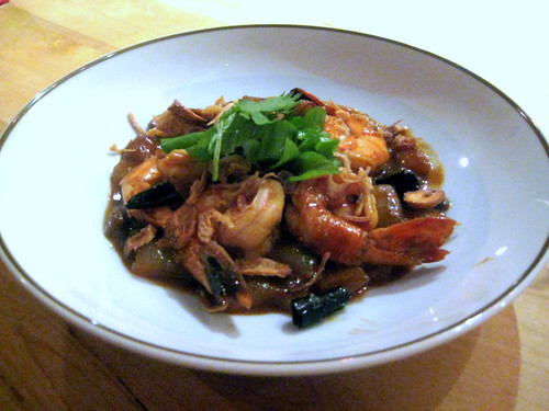 Tamarind Prawns with Crispy Shallots and Garlic