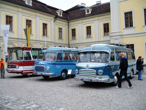 Schloss Ludwigsburg and old buses