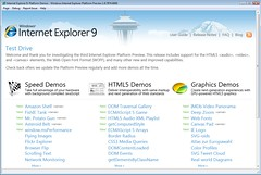 Internet Explorer 9 Test Drive - Welcome with IE9PP3