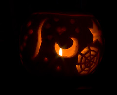 My pumpkin carving - Copyright R.Weal 2009