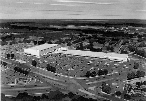 langley park shopping center drawing, 1954