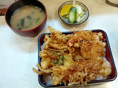 Tendon from Kinshi @ Ichigaya (Fuyuhiko) Tags: from set lunch tokyo rice bowl tendon don  tempura   ichigaya       kinshi  tempula   kaneito