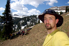A short break on our way up a mountainside (rtanders) Tags: mountains tetons wea wildernesseducationassociation