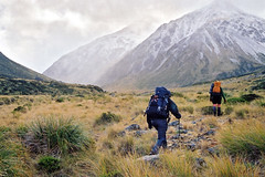 Into the unknown (Daniel Murray (southnz)) Tags: newzealand trekking landscape nationalpark scenery hiking arthurspass valley nz southisland edwards tramping southnz eos50escanfromprint edwardshawdon