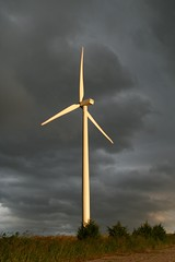 Sunset Lighting on Dark Clouds Background (Marvin Bredel) Tags: sunset storm oklahoma windmill clouds windturbine windfarm weatherford marvin908 marvinbredel