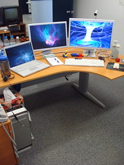 Office Rig (kepibear) Tags: cinema apple office mac display g5 powermac pro isight 2007 macbook