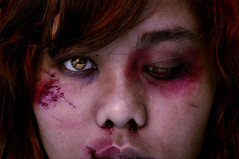 leave (futuna) Tags: portrait me crazy scary blood nadia expression victim dramatic bruise wound coolest abuse domesticabuse futuna