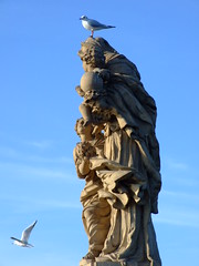 Statue on Charles Bridge in Prague