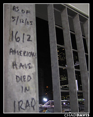 Americans at war. (relux.) Tags: new york nyc newyorkcity usa newyork wall photography war o c worldtradecenter iraq 911 11 september have terrorism americans cs wtc written groundzero troops died casualties americaf